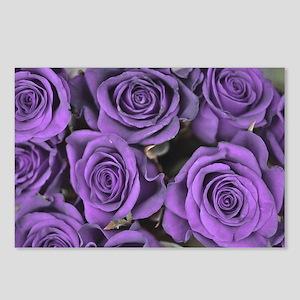 Purple Roses Postcards (Package of 8)