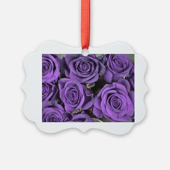 Purple Roses Ornament