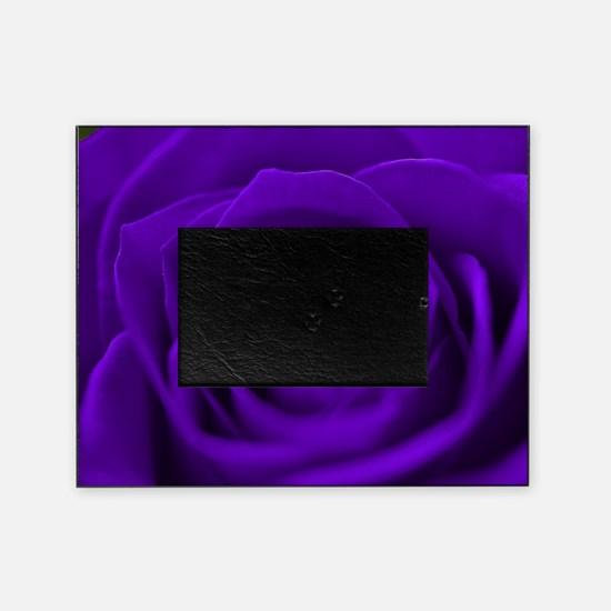 Purple Roses Picture Frame