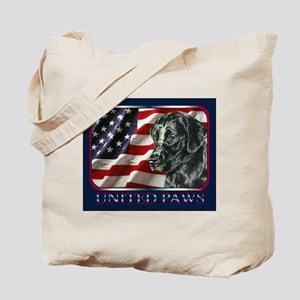 Black Lab USA Flag Patriotic Tote Bag