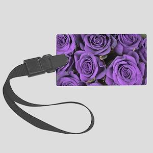 Purple Roses Large Luggage Tag