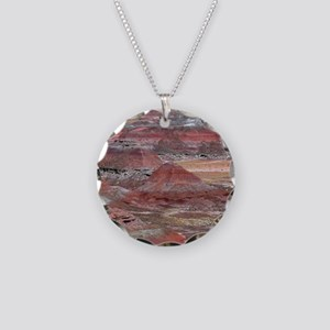 Petrified Forest Necklace Circle Charm