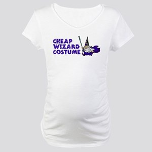 Cheap Wizard Costume Maternity T-Shirt