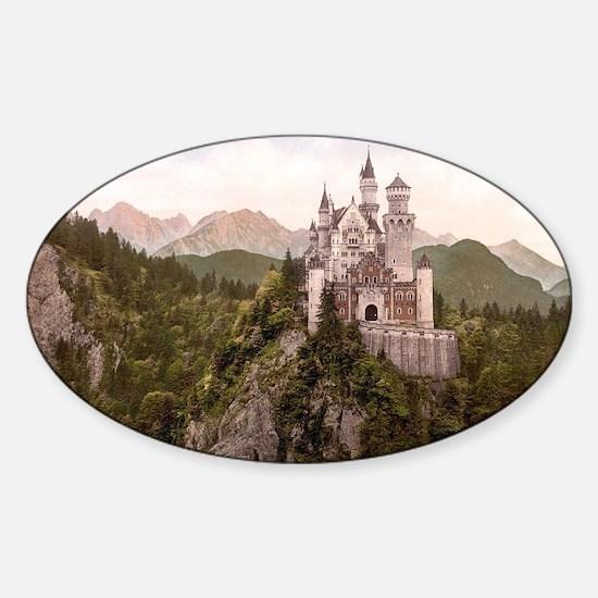 Neuschwanstein Castle Sticker (Oval)
