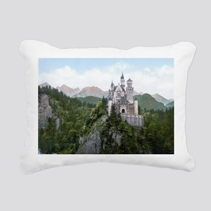 Neuschwanstein Castle Rectangular Canvas Pillow