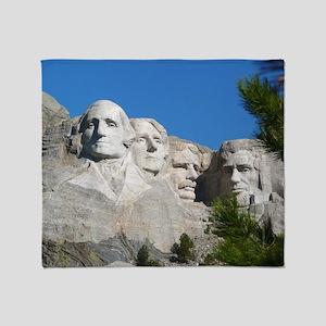 Mount Rushmore Throw Blanket