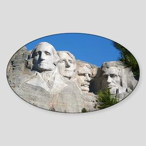 Mount Rushmore Sticker (Oval)