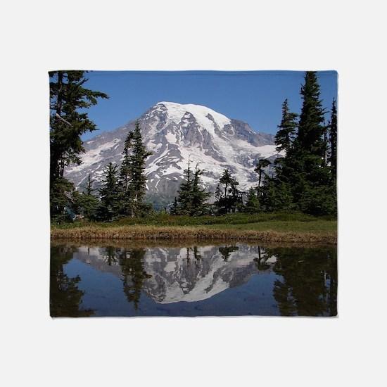 Mount Rainier Throw Blanket