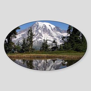 Mount Rainier Sticker (Oval)