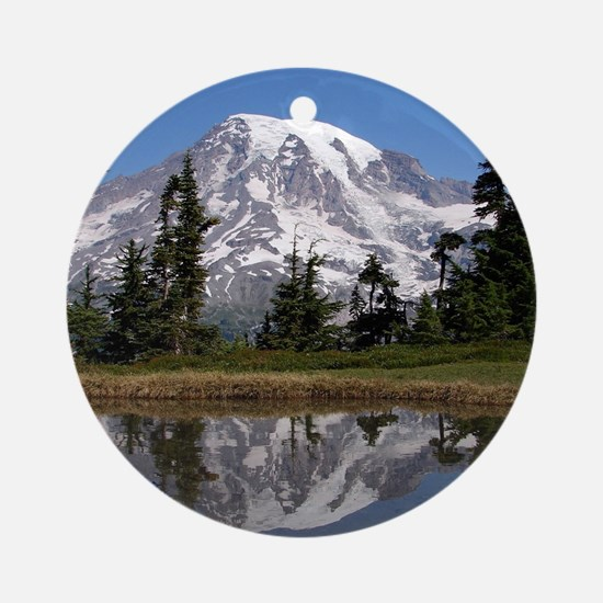 Mount Rainier Round Ornament
