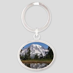 Mount Rainier Oval Keychain