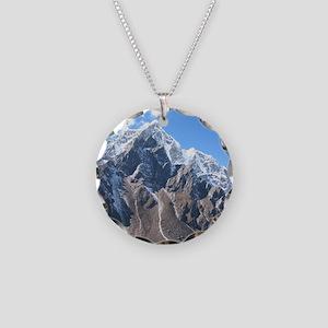 Mount Everest Necklace Circle Charm