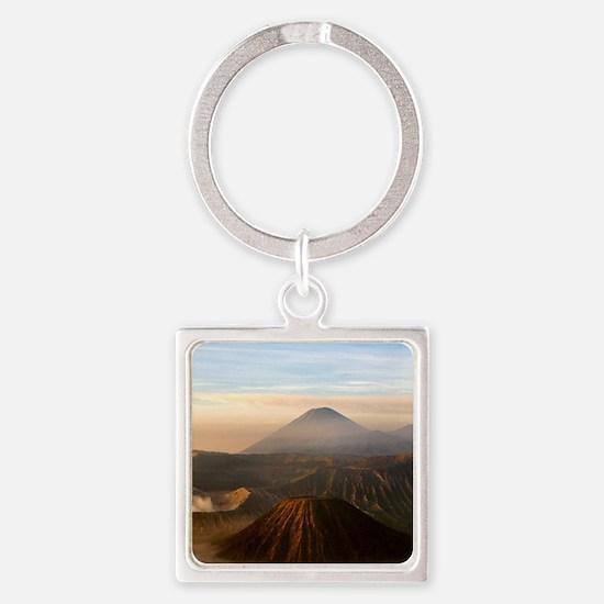 Mount Bromo Square Keychain