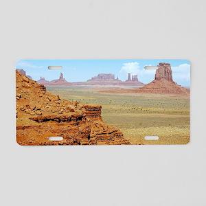Monument Valley Aluminum License Plate