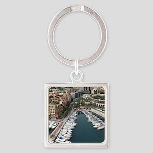 Monaco Square Keychain
