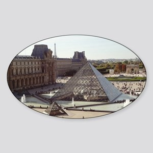 Louvre Pyramid Sticker (Oval)