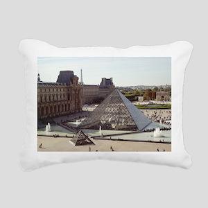 Louvre Pyramid Rectangular Canvas Pillow