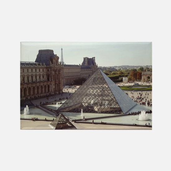 Louvre Pyramid Rectangle Magnet