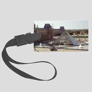 Louvre Pyramid Large Luggage Tag