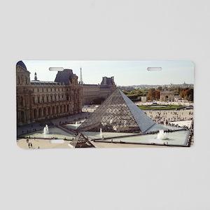 Louvre Pyramid Aluminum License Plate