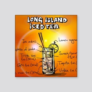 "Long Island Iced Tea Square Sticker 3"" x 3"""
