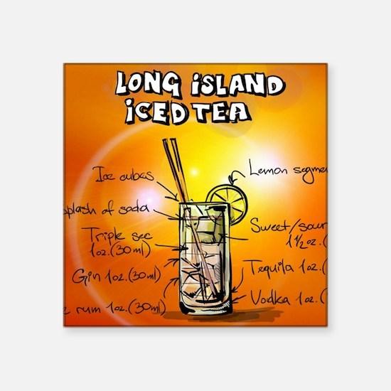 "Long Island Iced Tea Square Sticker 3"" x 3"""