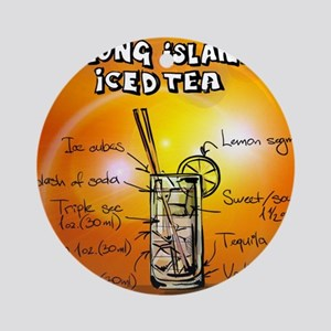 Long Island Iced Tea Round Ornament