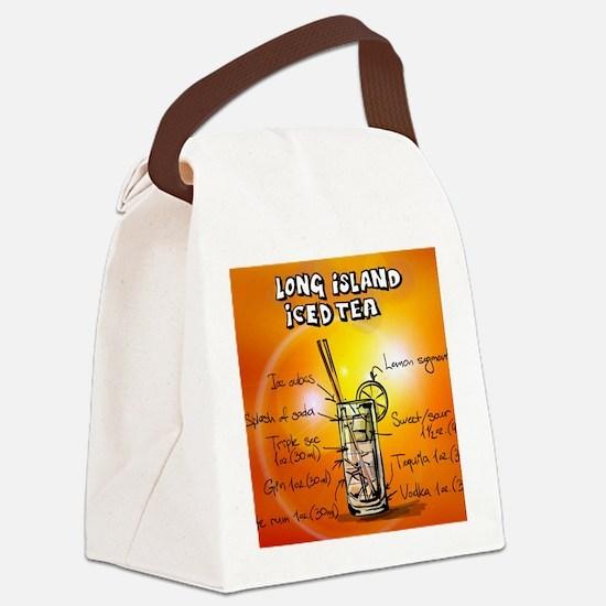 Long Island Iced Tea Canvas Lunch Bag