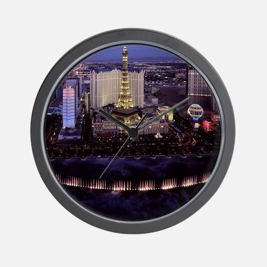 Las Vegas by Night Wall Clock