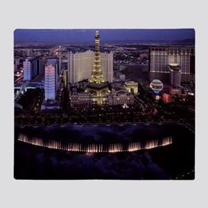 Las Vegas by Night Throw Blanket