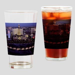 Las Vegas by Night Drinking Glass