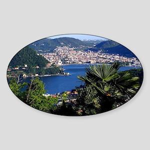 Lake Como Sticker (Oval)