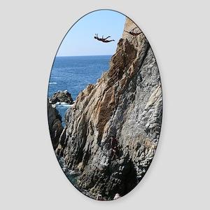 La Quebrada Cliff Divers Sticker (Oval)