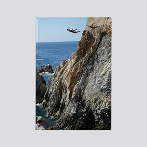 La Quebrada Cliff Divers Rectangle Magnet