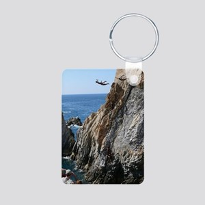 La Quebrada Cliff Divers Aluminum Photo Keychain