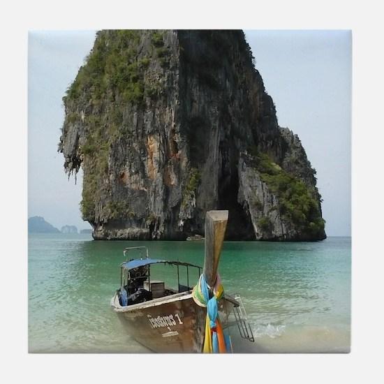 Krabi beach Tile Coaster