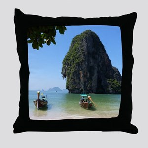 Krabi beach Throw Pillow
