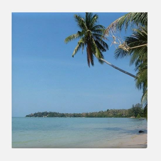 Koh Samui beach Tile Coaster