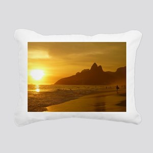 Ipanema beach Rectangular Canvas Pillow