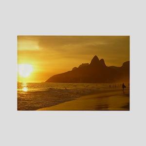 Ipanema beach Rectangle Magnet
