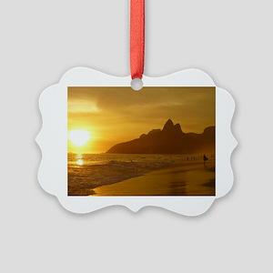 Ipanema beach Picture Ornament