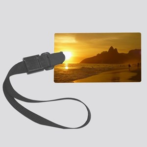 Ipanema beach Large Luggage Tag