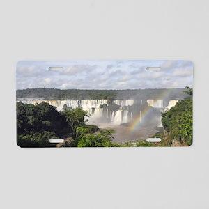 Iguazu Falls Aluminum License Plate