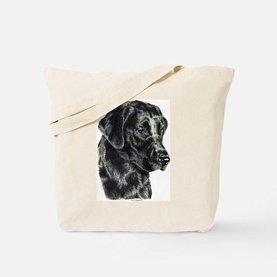 Black Labrador Retriever Head Tote Bag