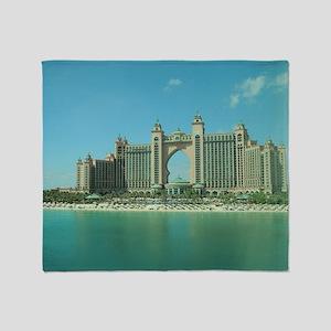 Dubai Atlantis Throw Blanket