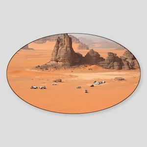 Desert in Algeria Sticker (Oval)