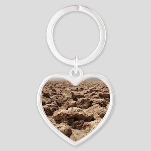 Death Valley Heart Keychain