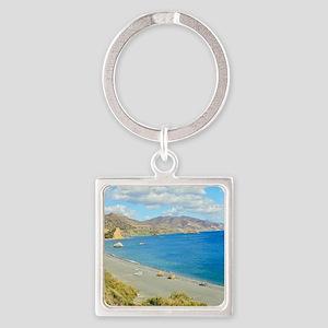 Crete Square Keychain