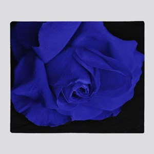 Blue Roses Throw Blanket