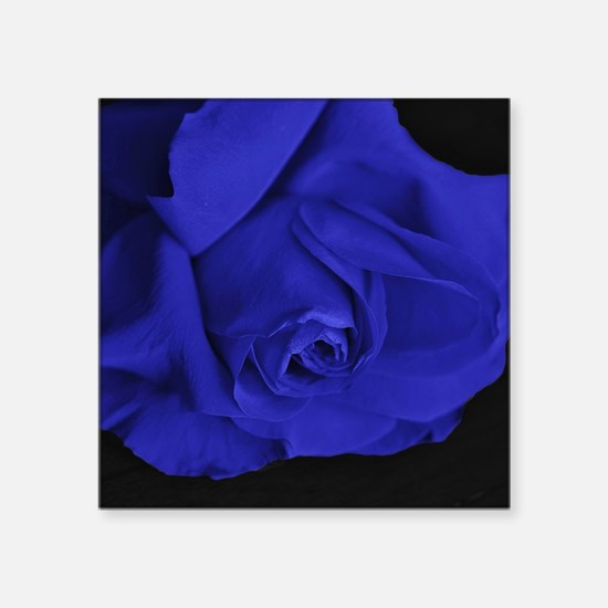"Blue Roses Square Sticker 3"" x 3"""